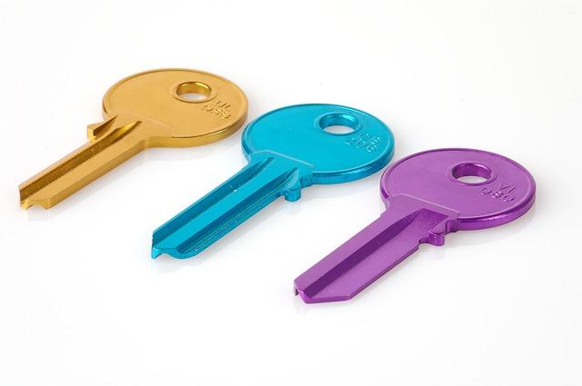 barevné klíče