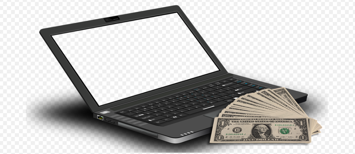 notebook a peníze