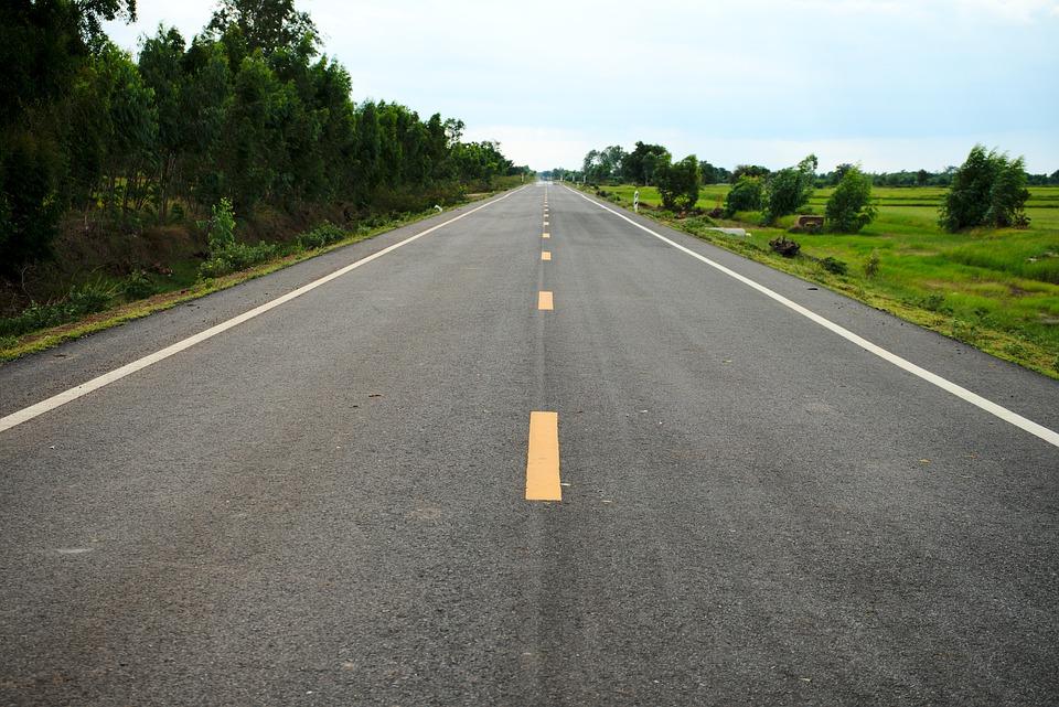 rovná silnice